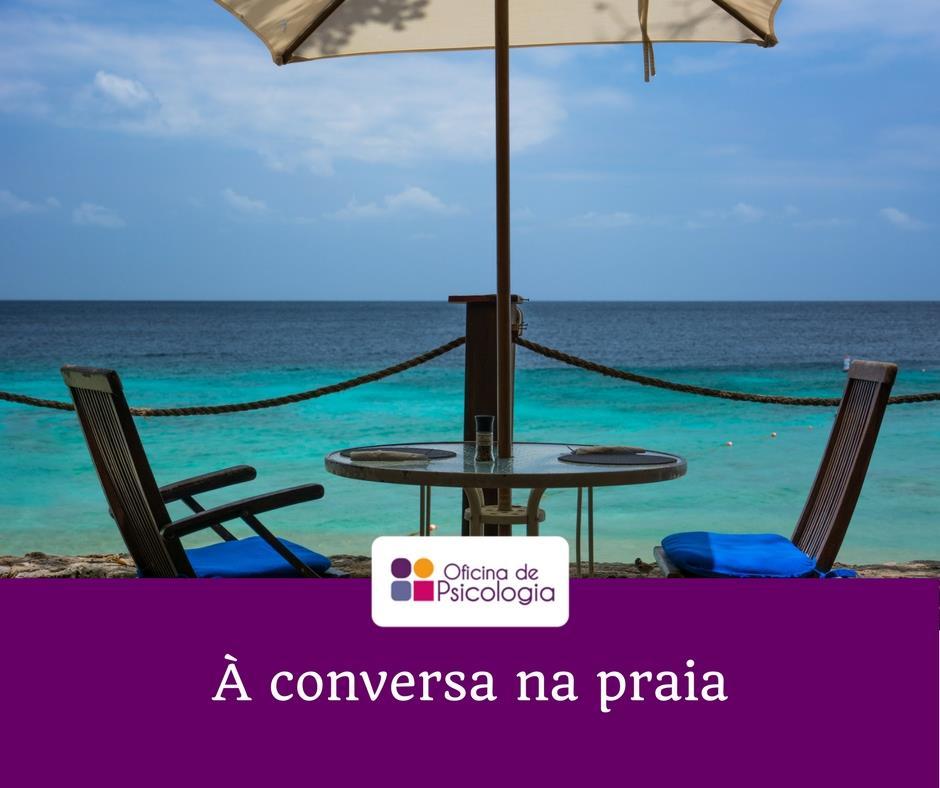 À conversa na praia