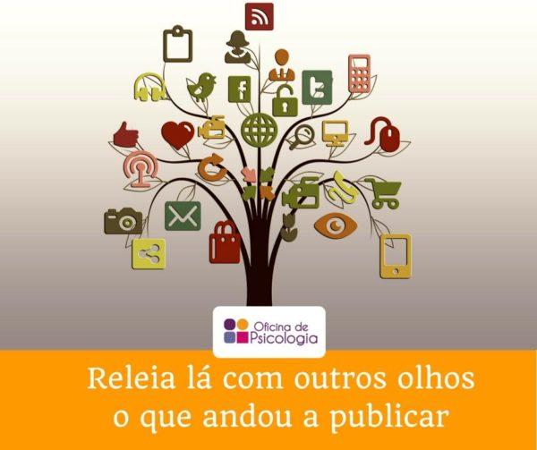 Publicações nas redes sociais