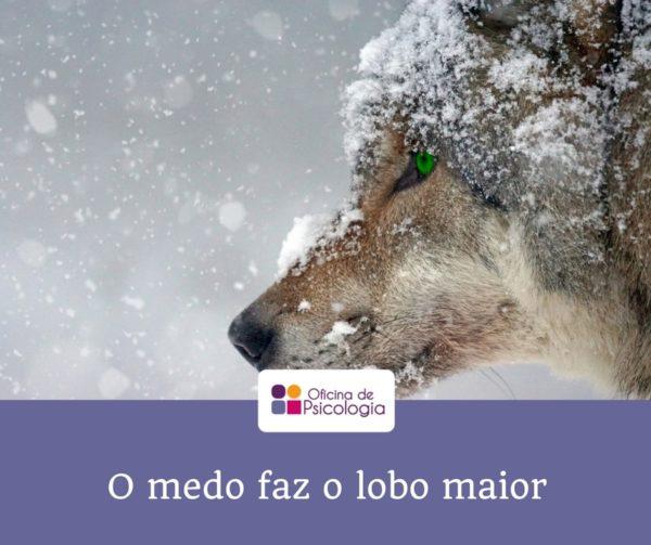 O medo faz o lobo maior do que ele é