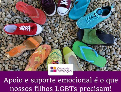 Apoio e suporte emocional é o que nossos filhos LGBTs precisam!