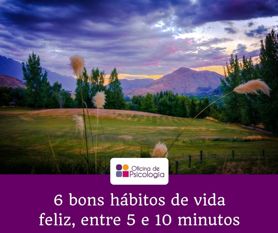6 bons hábitos menos de 10 minutos