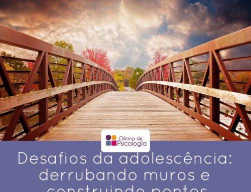 Desafios da adolescência: derrubando muros e construindo pontes