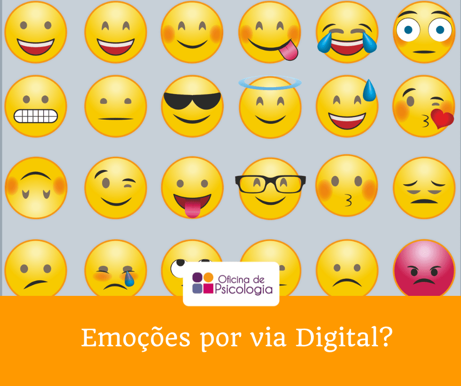 emoções por via digital