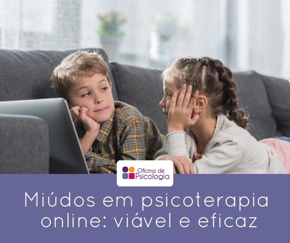miúdos em psicoterapia online